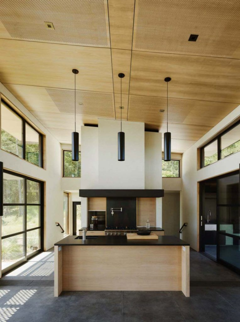 5 Pretty Houses Communicate With Their Surroundings  Pendant Pleasing Kitchen Designs With High Ceilings Inspiration