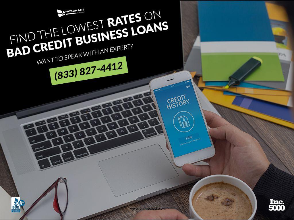 Guaranteed Bad Credit Business Loans Merchant Advisors Business Loans Bad Credit Loans For Bad Credit