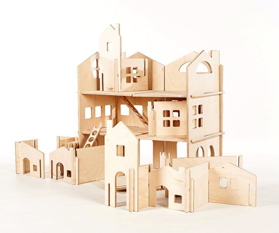 Build Your Own Wood Dollhouse With Towers // By