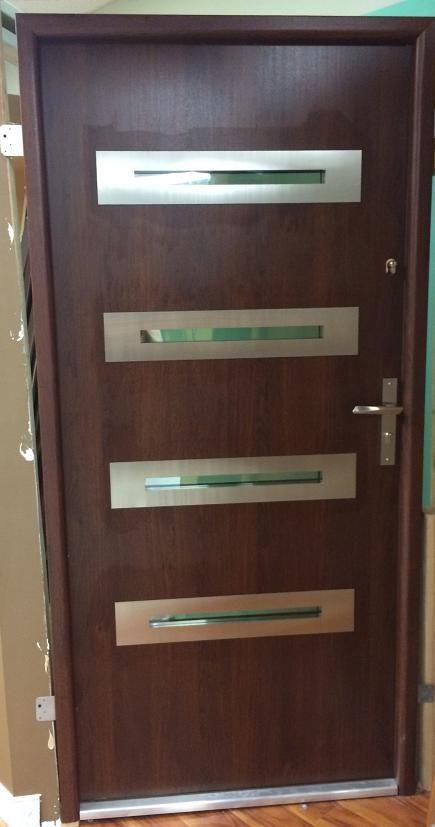 Phoenix Design Steel Exterior Door Is Available In Italian Walnut