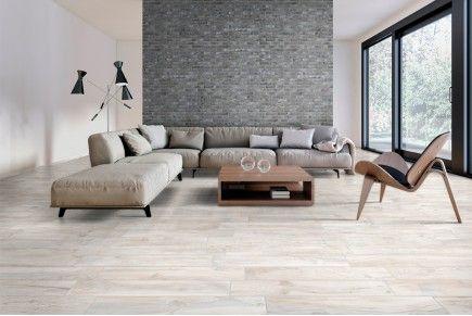 Bois Blanc Avec Images Salon Moderne Carrelage Imitation Parquet