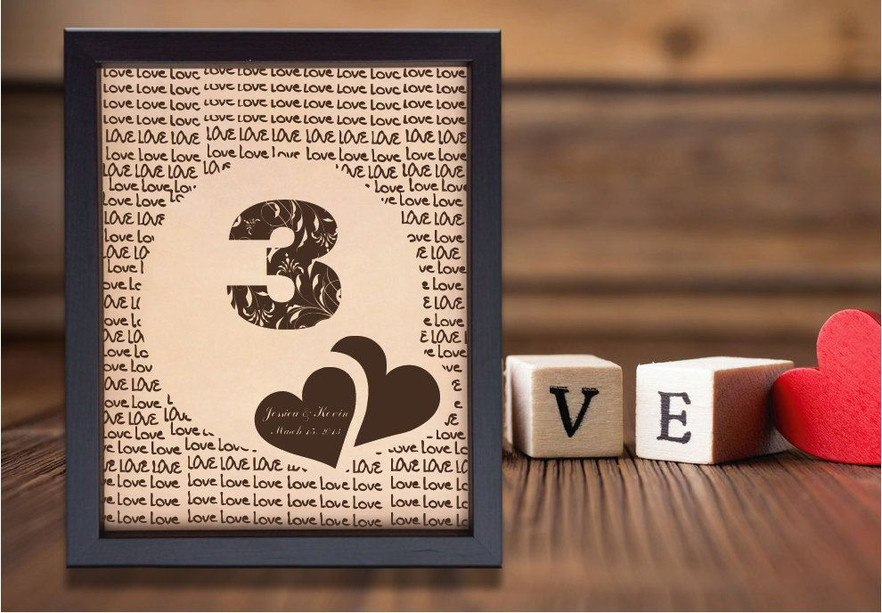 Lik leather engraved wedding rd anniversary personalized gift