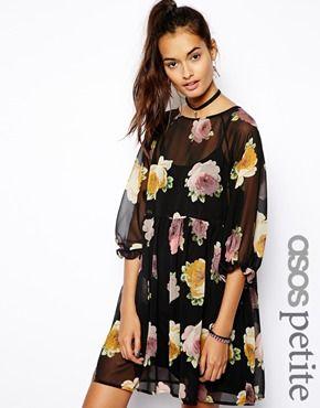 Asos Petite Dress In Summer Floral Floral Print Jumpsuit Affordable Fashion Clothes Asos Petite Dresses