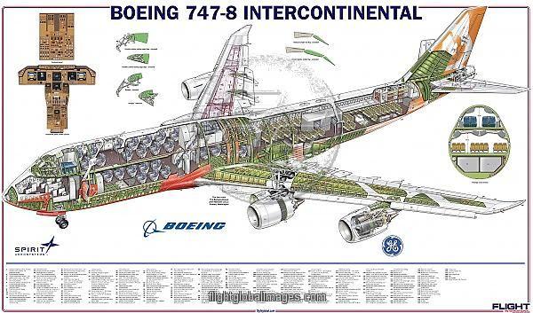 Print Of Boeing 747 8 Cutaway Boeing 747 Boeing 747 8 Boeing