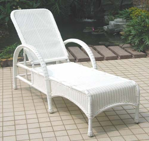 Summerset Adjustable Outdoor Wicker Chaise Lounge All About Wicker - Wicker Furniture and Replacement cushions