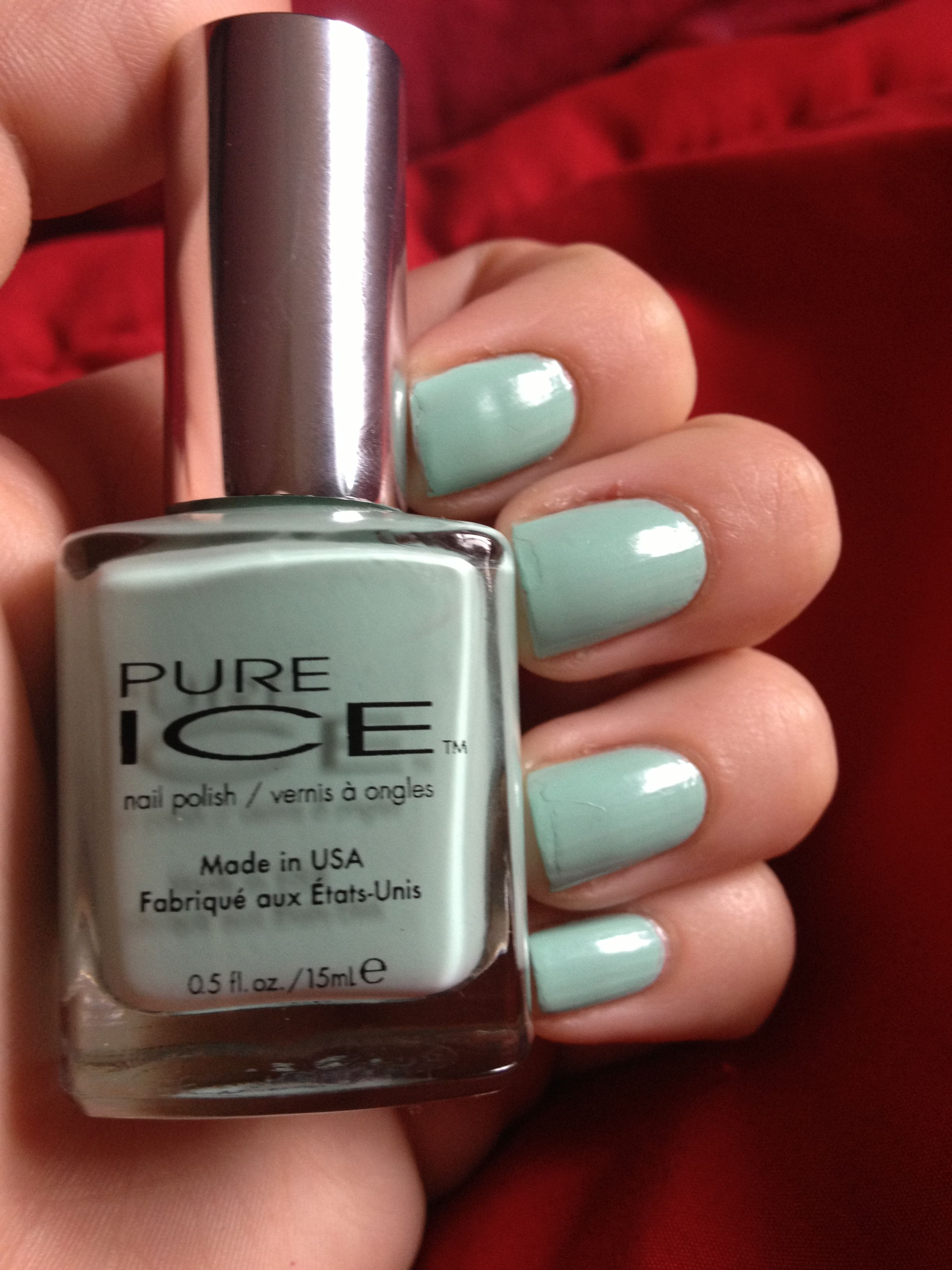 Pure Ice Nail polish in Home Run. Beautiful colour pay off and the ...