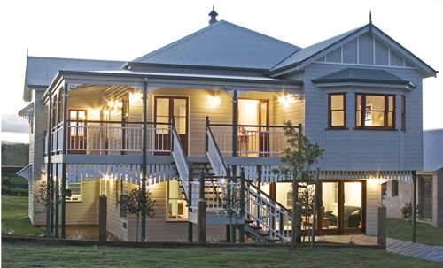 Georgina traditional queenslander style home by garth for Queenslander floor plans