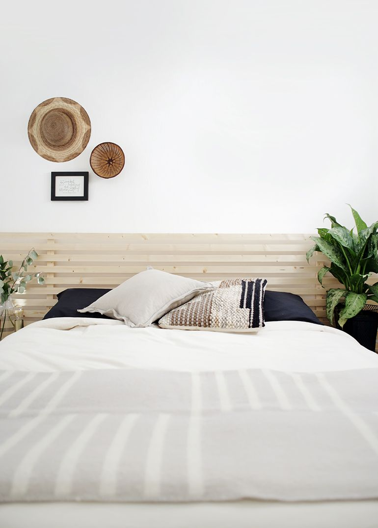 Diy Wood Slat Headboard Slatted Headboard Scandinavian Bed