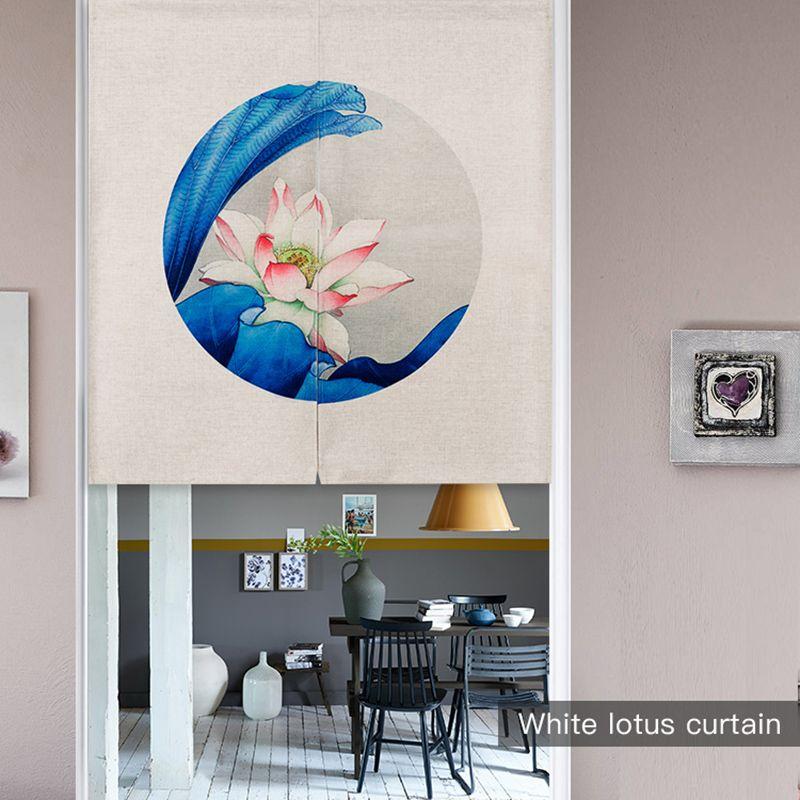 Pas cher Moderne Minimaliste Chinois Classique Lotus Linge Tissu