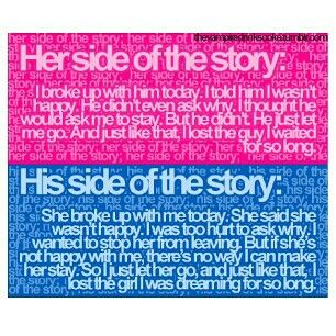 His her side of the story