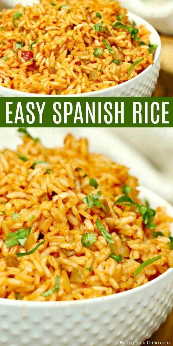 Easiest Spanish Rice #spanishmeals