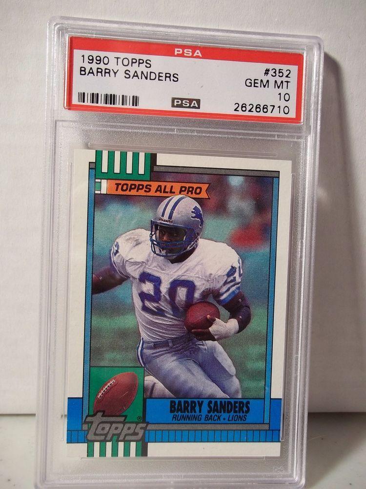 1990 topps barry sanders psa gem mint 10 football card