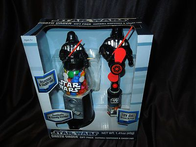 $22.75 free shipping  #StarWars #DarthVader #Gumball Dispenser and #Candy #Fan #Toy #Collectible
