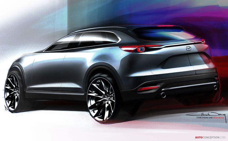New Cx 9 Crossover Previews Next Generation Mazda Design Autoconception Com Mazda Car Design Sketch Car Design