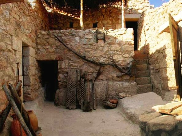Reconstruction of a typical Jewish home in the time of Christ ...