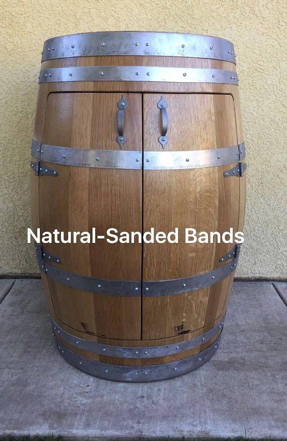 half oak wine barrel cabinet wine barrel furniture liquor cabinet d co maison pinterest. Black Bedroom Furniture Sets. Home Design Ideas