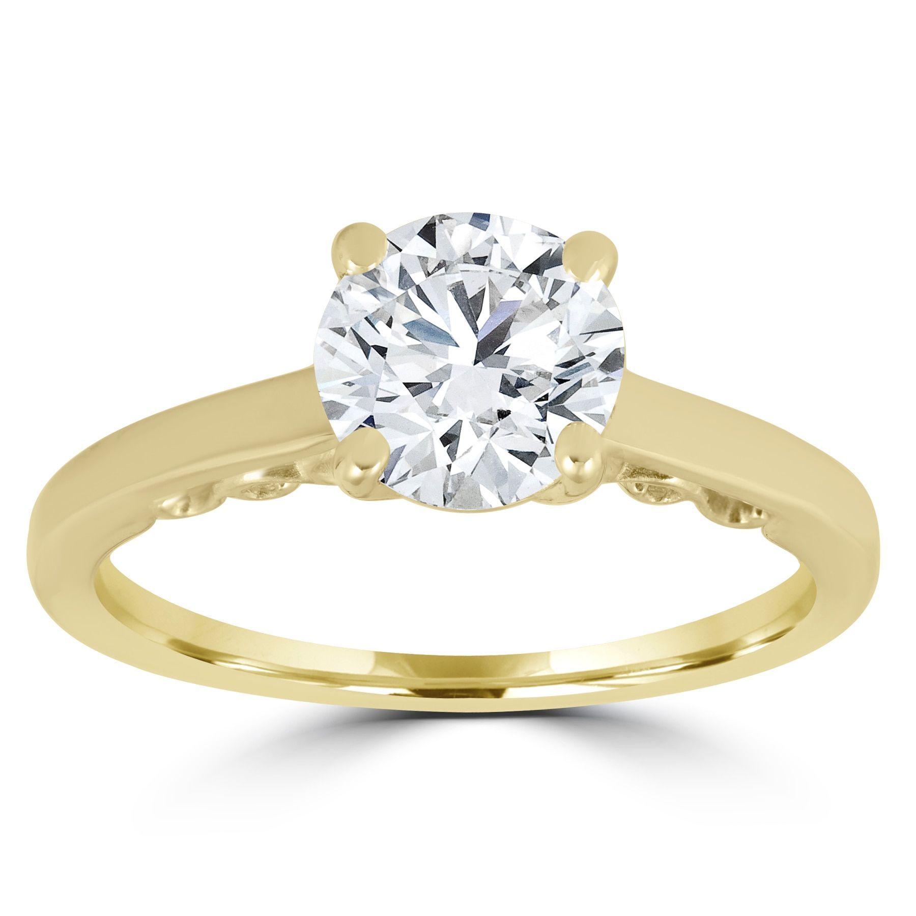 bliss 14k yellow gold 1 ct tdw diamond clarity enhanced round