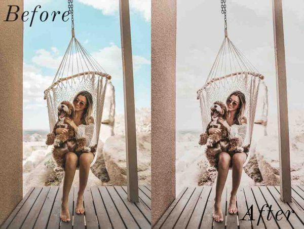 Moody Instagram Lightroom mobile preset before and after. #instagramfeed #instagramtips