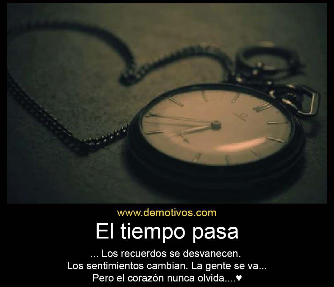 el tiempo pasa los recuerdos se desvanecen los