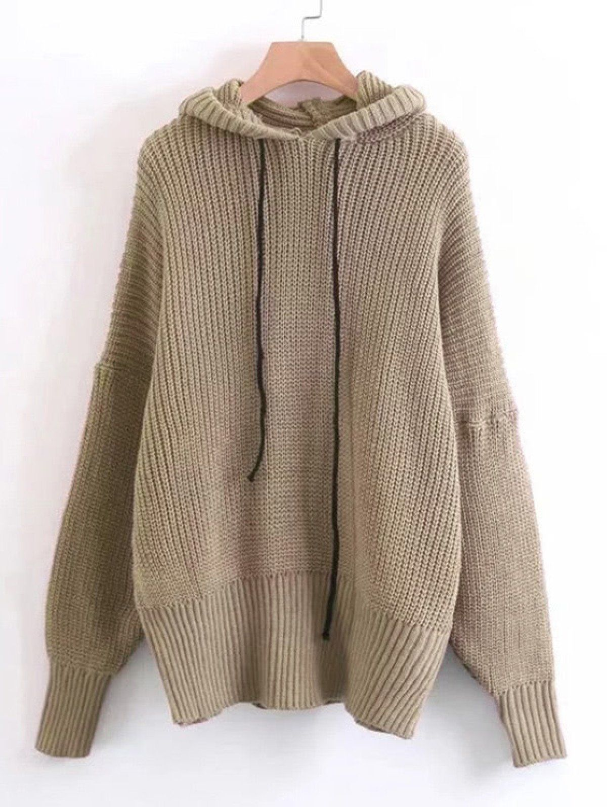 cd0bb88a9d Long Sleeve Sweaters. Pullovers Designed with Hooded. Oversized fit. Plain  design. Trend