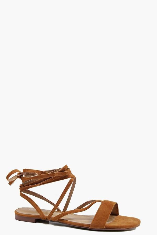 ede6a794df boohoo Vanessa Strappy Lace Up Sandal