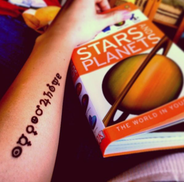 Astronomy Tattoo The Astronomical Symbols For The Sun And Planets