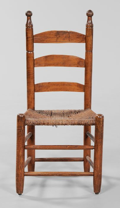 Virginia Ladder Back Side Chair Attributed To Johnson Family Chair