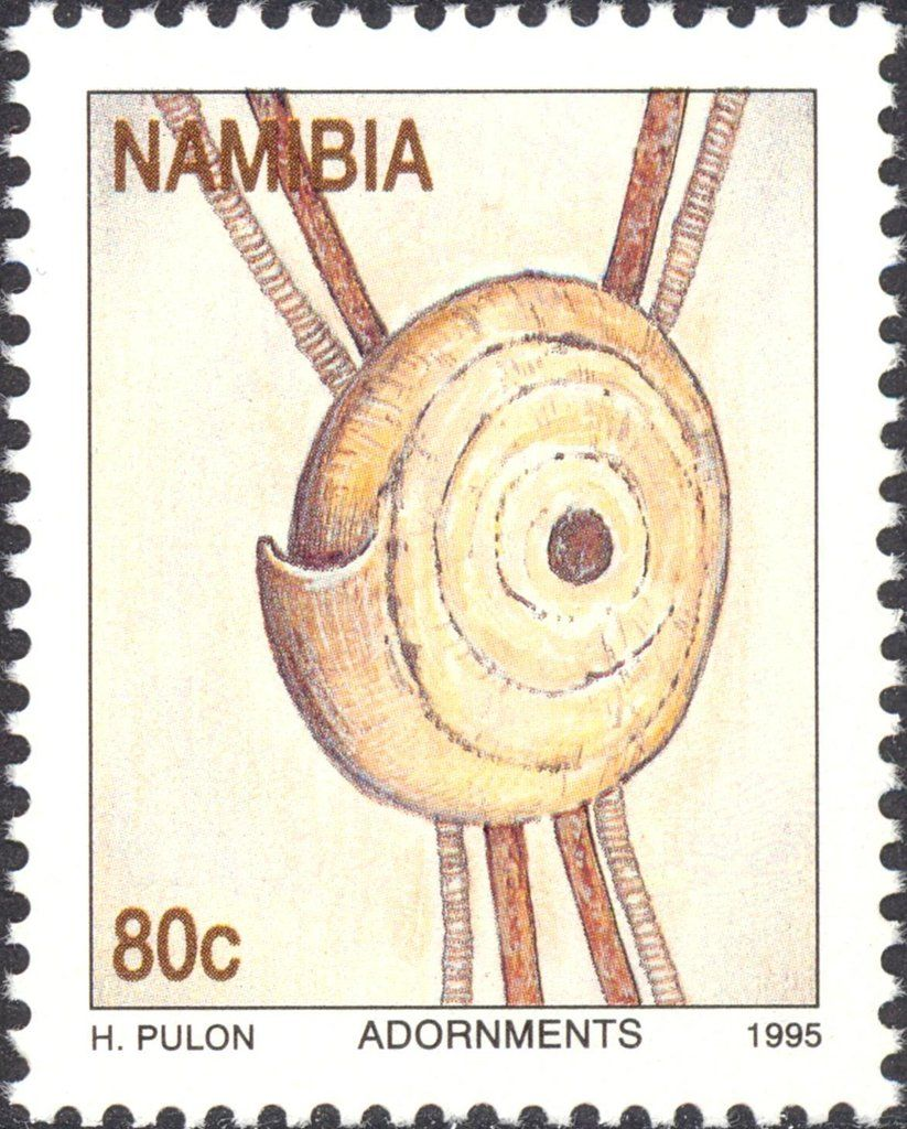 Stamp Conus Shell Namibia Traditional Adornments Mi Na 799 Sn Na 788 Yt Na 754 Postal Stamps Stamp Collecting Philately