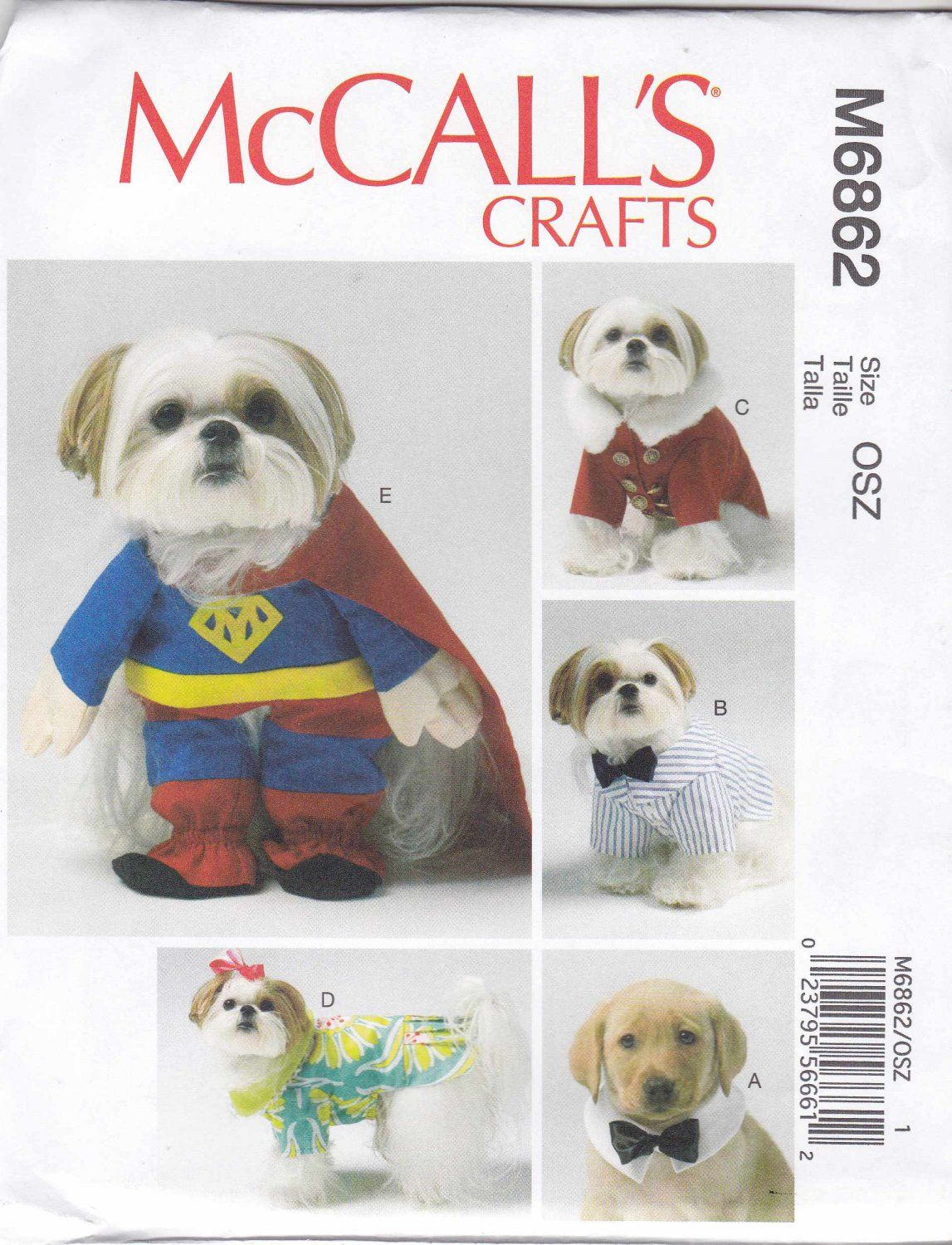Mccall S Sewing Pattern 6862 Crafts Dog Clothes Costumes Bow Tie