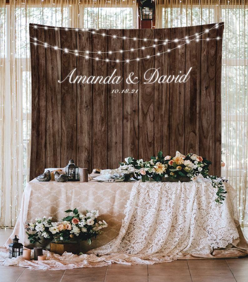 Wedding Backdrop Rustic Wedding Decor Lights Rustic Etsy