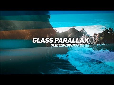 Glass Parallax Slideshow After Effects template After Effects