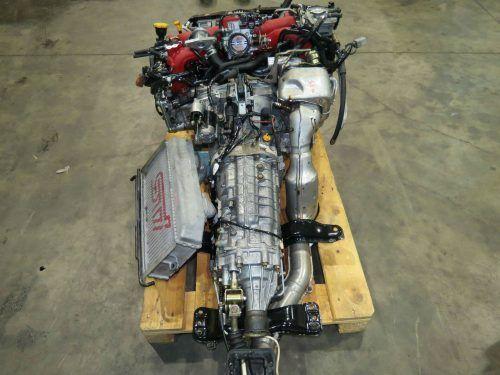 jdm 2004-2005 subaru wrx sti version 8 ej20t engine 2 0l turbo vf37 twin  scroll, mt 6 speed dccd transmission wiring harness ecu