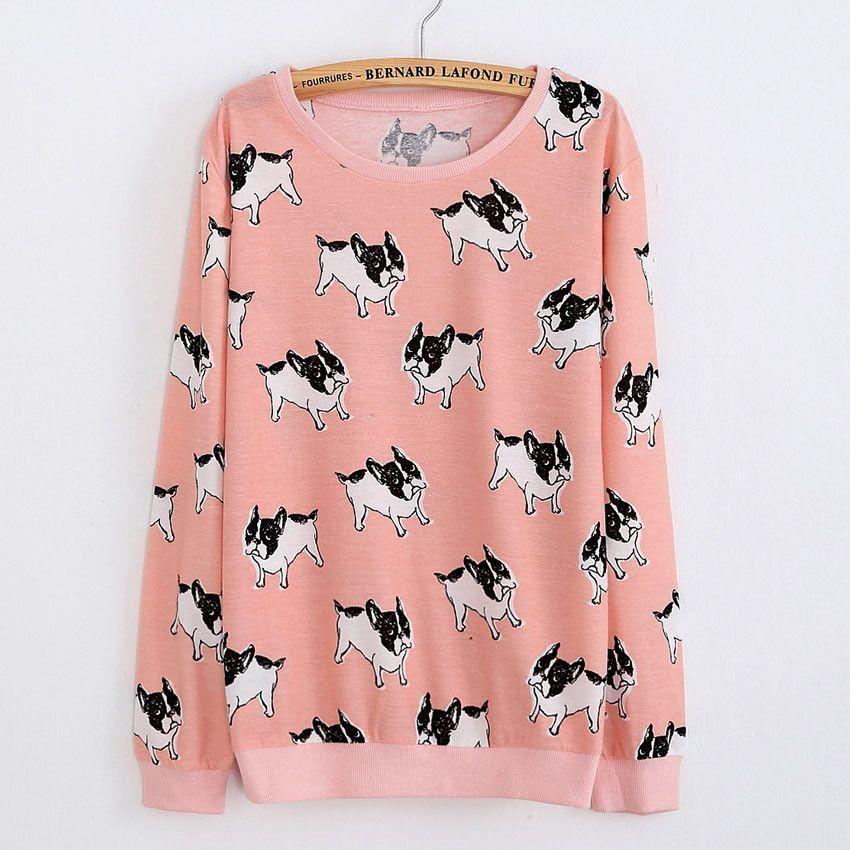 e4a464ef5 Cat party print Harajuku Wool Blend Brand Knitwear Sweaters Women s ...