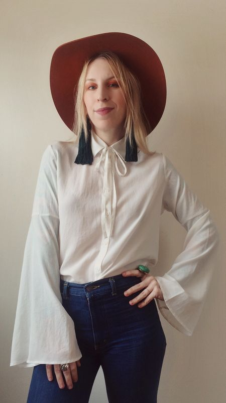 OH MY LOVE   Morrison Bell Sleeve Button Down Shirt