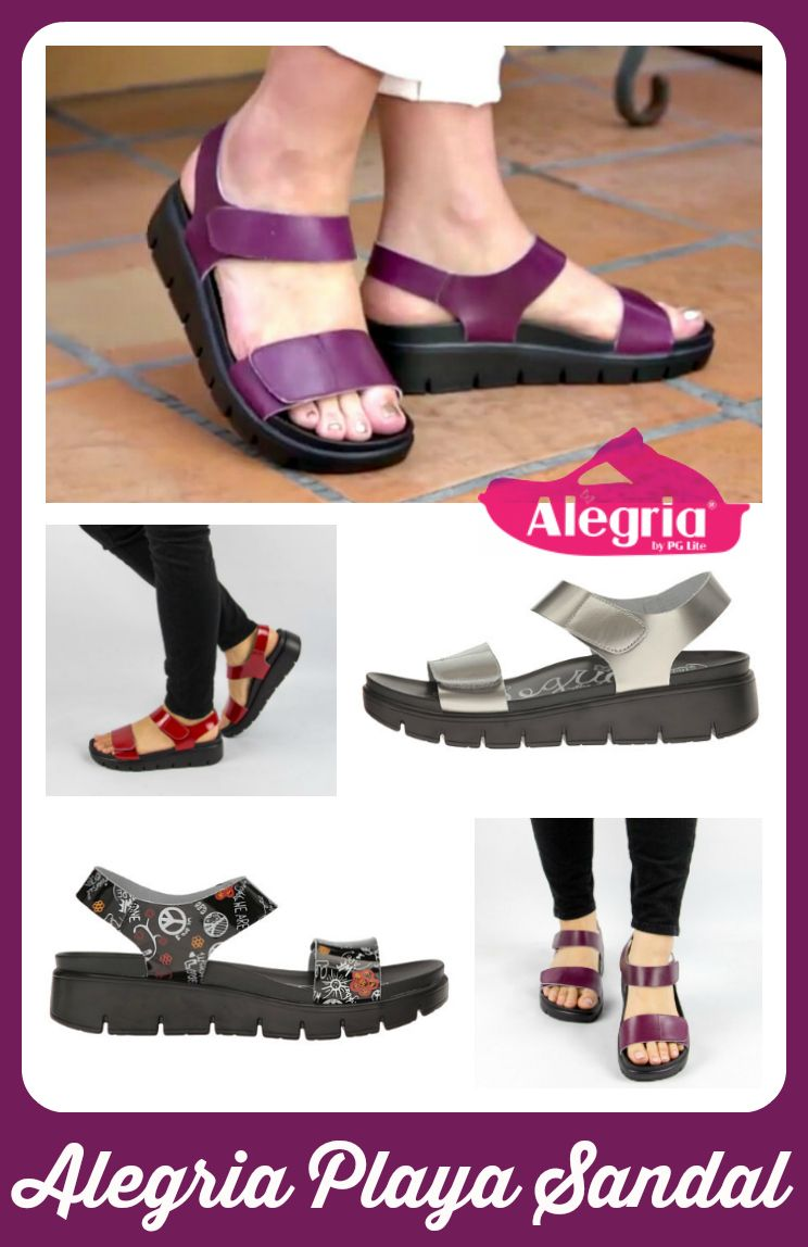 96007a1f0 Read our review of this cool new summer sandal by  Alegria   supportive  footbed with adjustable water-resistant straps.  -)