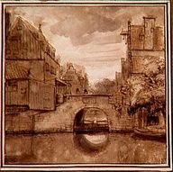 Astonishing Rembrandt View From The Grimnessesluis Bridge In Amsterdam Beutiful Home Inspiration Cosmmahrainfo
