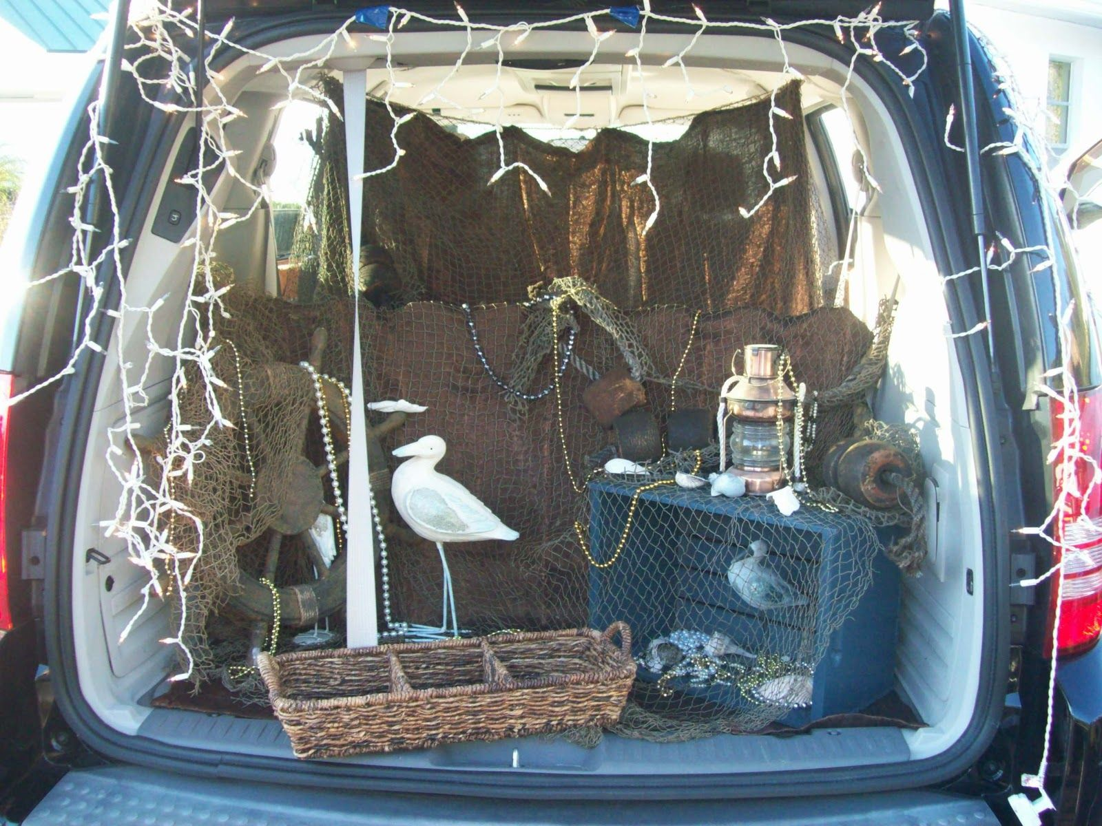 trunk or treat ideas | In Florida you must expect a nautical theme...and a little buried ... #trunkortreatideasforcarsforchurch