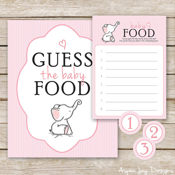 graphic regarding Guess the Baby Food Game Free Printable referred to as Red Elephant Youngster Shower Bet the Child Food items Recreation