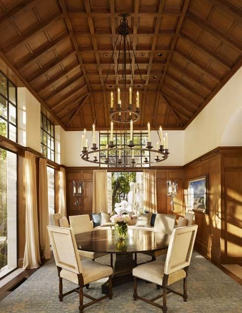 wooden tray ceiling