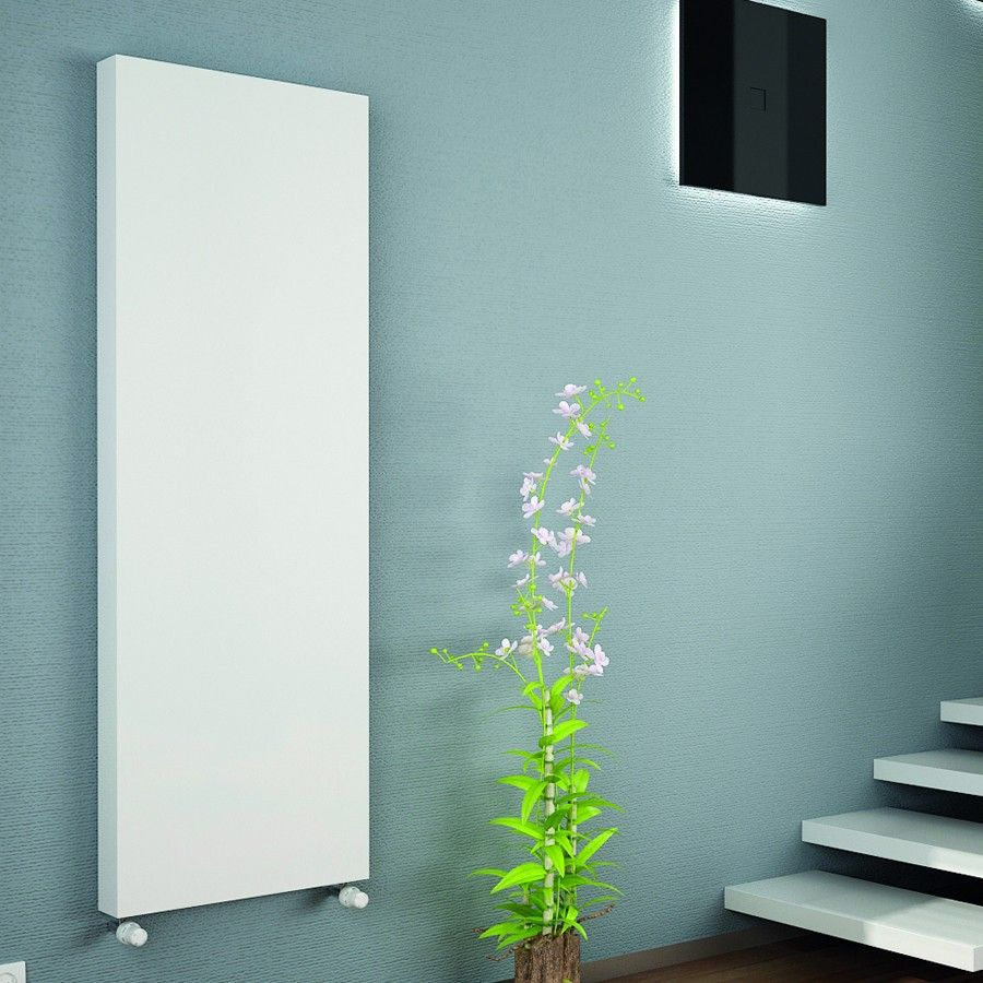 Design Convector Radiator.Kartell K Flat Single Panel Vertical Designer Convector