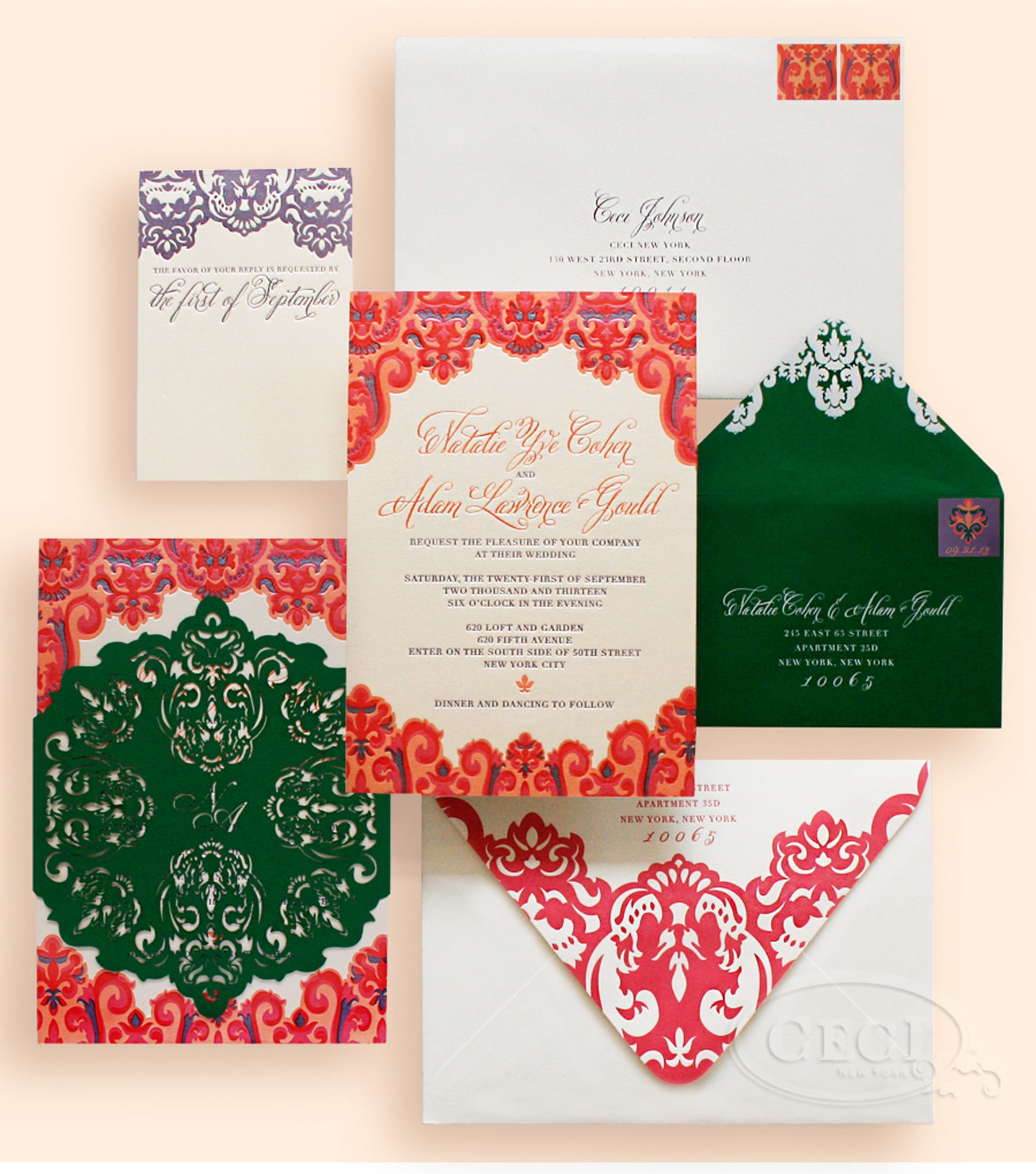 Luxury Wedding Invitations by Ceci New York - Our Muse - Colorful ...