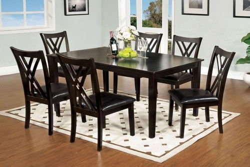 7 PC Furniture of America Springhill Dining Room Table Set CM3460T