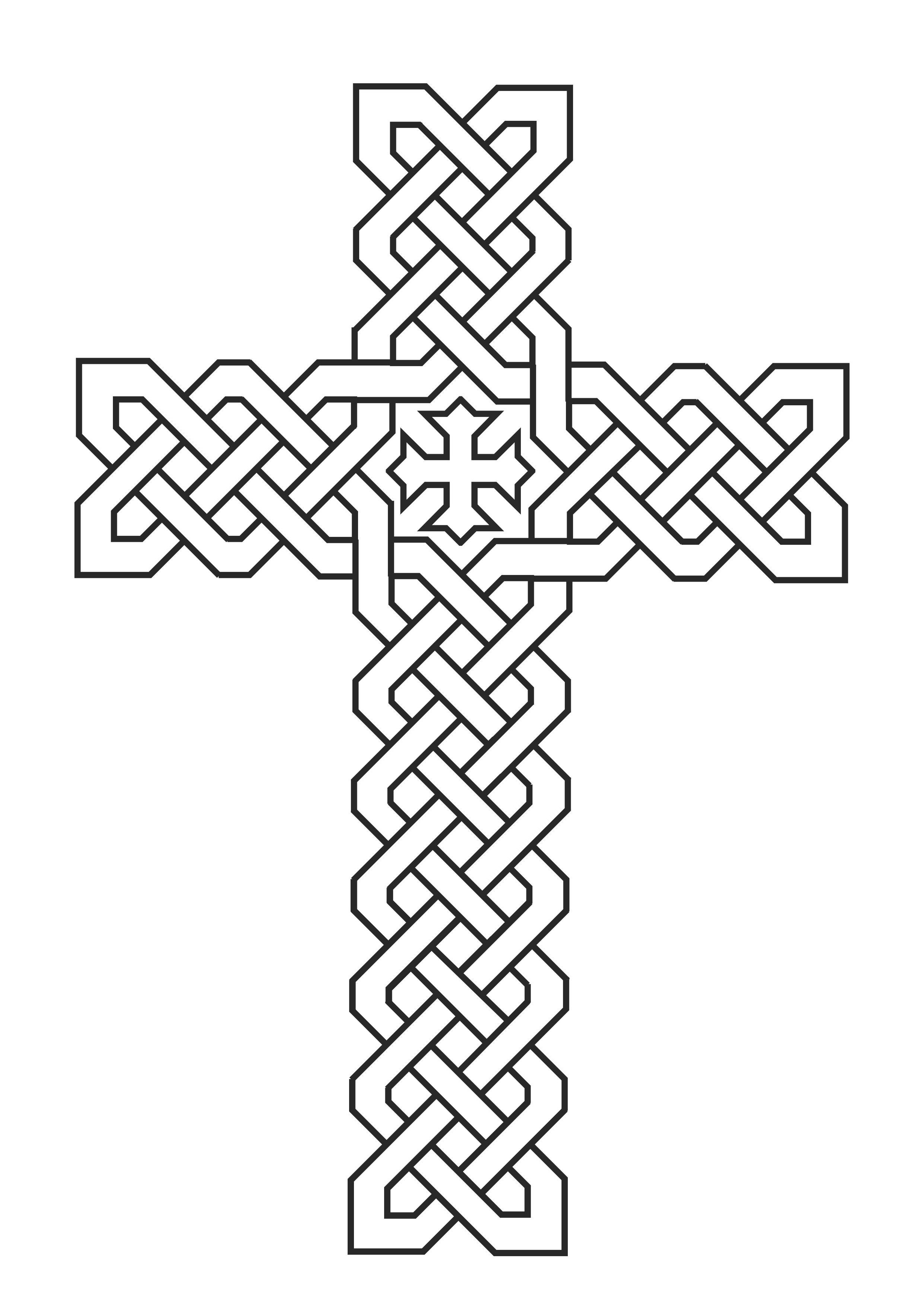 Latest Cross Coloring Page Printable For Kids