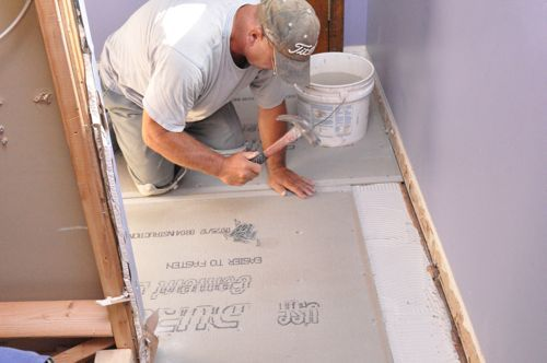 How To Install Cement Board Cbu For Floor Tile Tile Floor Flooring Cement