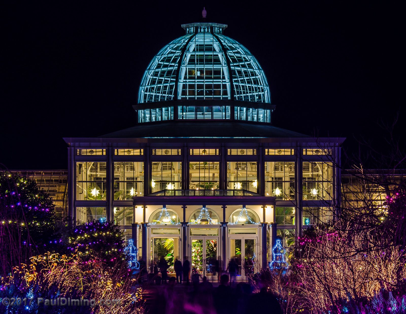 Conservatory At Night Dominion GardenFest of Lights