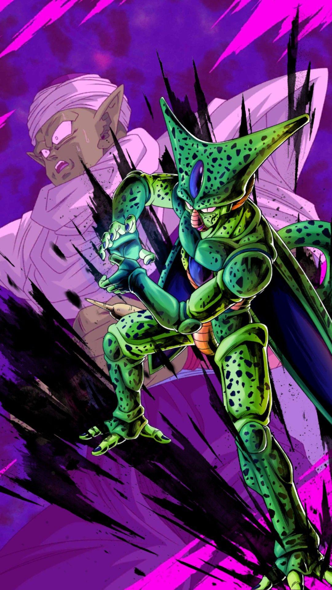 Cell 1st Form Dragon Ball Legends Dragon Ball Gt Goku Desenho Dragon Ball