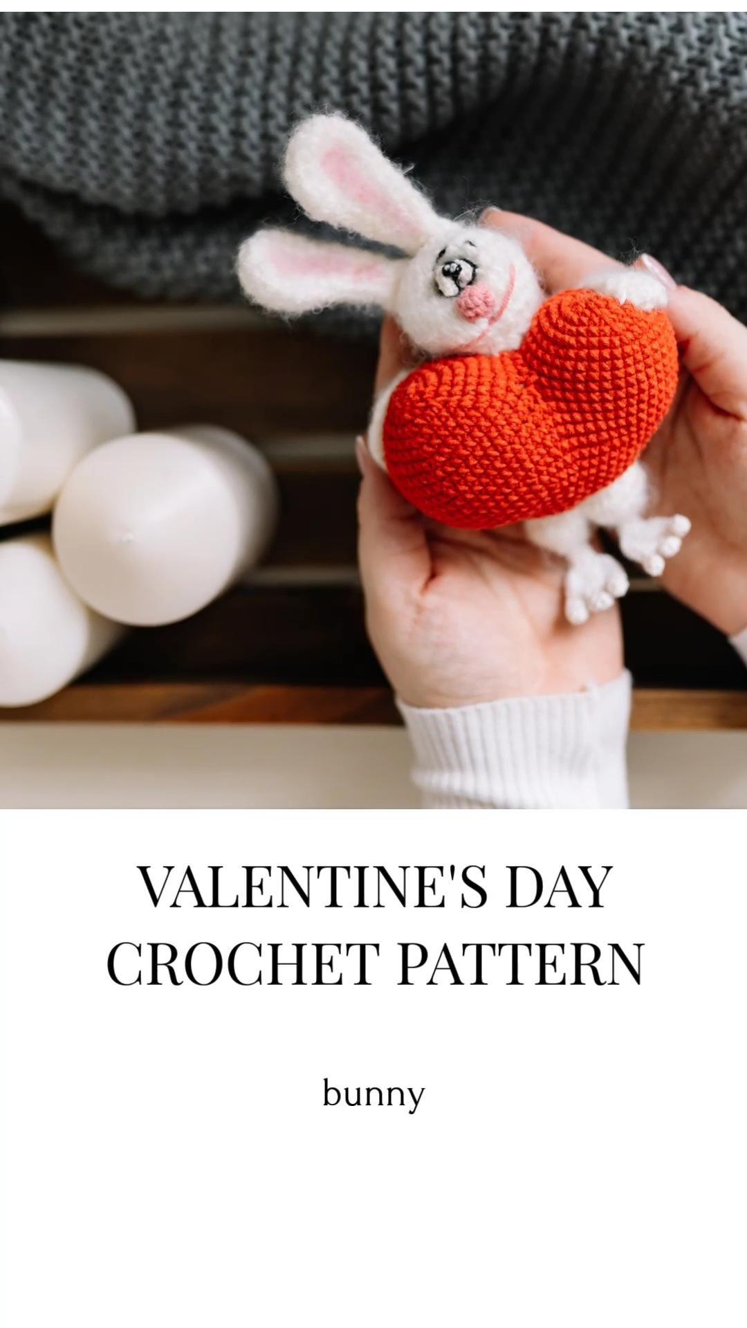 Valentines day crochet pattern, amigurumi pattern,