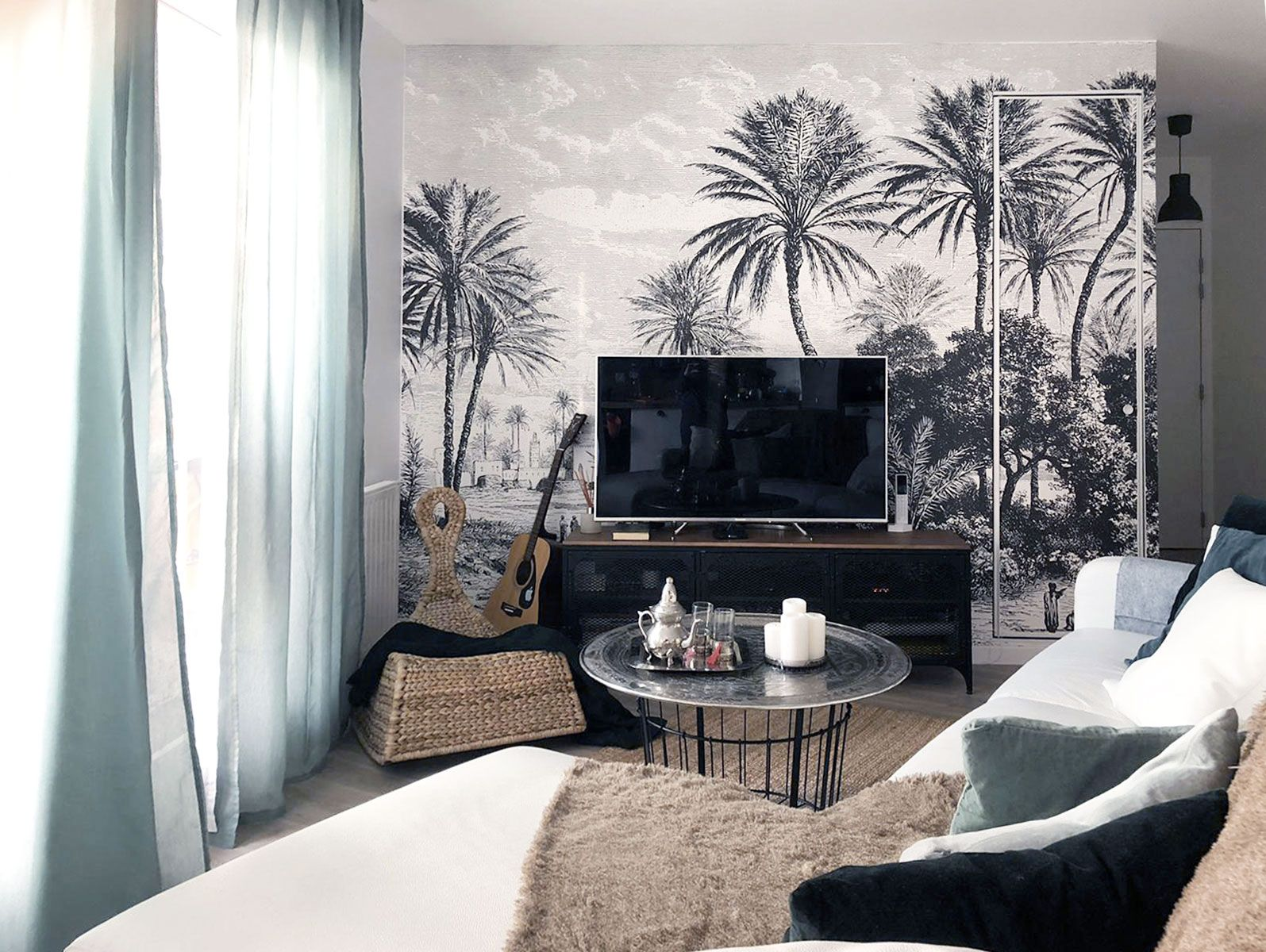 Le Papier Peint Panoramique Tropical Oasis De Les Dominotiers