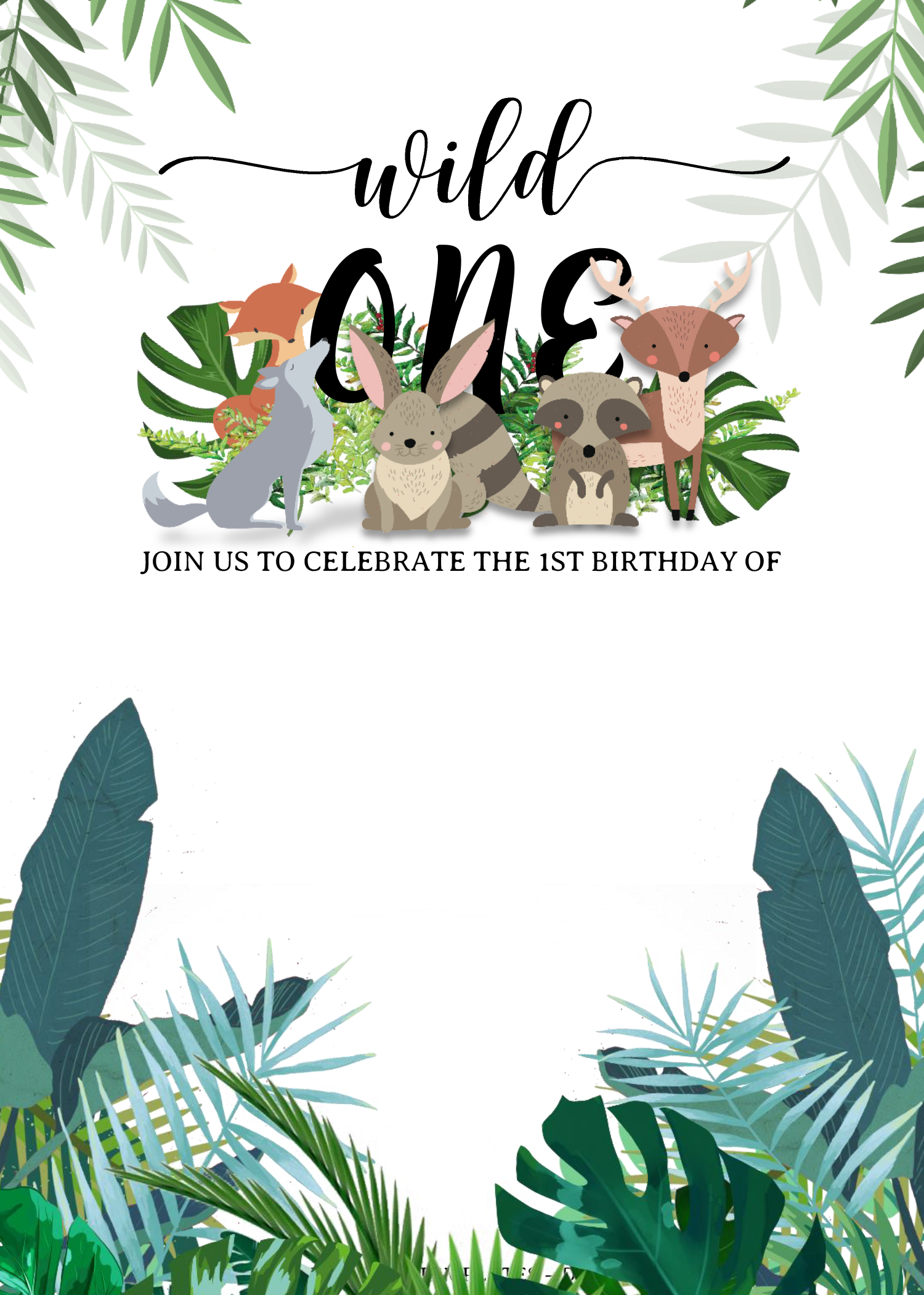 Wild One Invitation Templates Editable With Ms Word Invitation Template Wild One Birthday Invitations First Birthday Cards