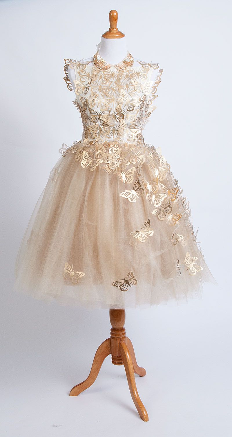 The Gold Tulle Butterfly Dress Made With The Cricut